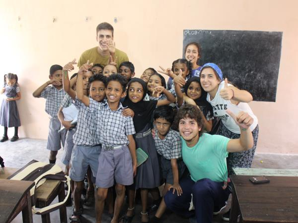 Sports coaching volunteering in India