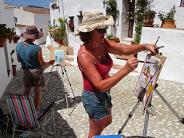 Painting holiday in Spain, colours of Andalucia