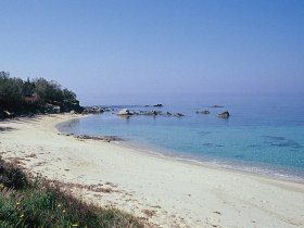 The nearest beach, 800m