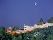 Xativa castle by night, Valencia. Photo by Valencia Tourist Board