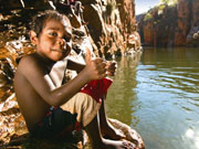 Aboriginal boy fishing, Western Australia. Photo by Tourism Western Australia