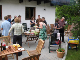 Barbecue for guests