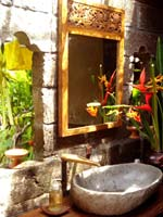 Southern Bali Garden bathroom, hot shower