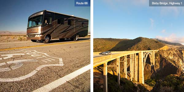 Route 66 and Highway 1, Bixby Bridge