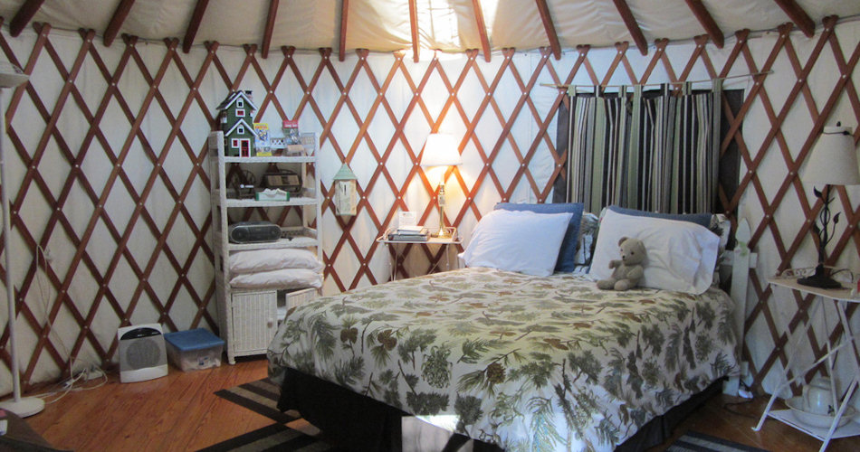 Staying in a yurt