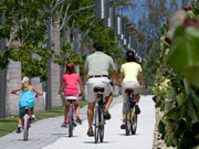 Cycling in Camana Bay, Cayman Islands. Photo by Cayman Islands Tourist Board
