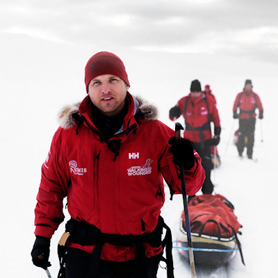 Inge on Walking With The Wounded expedition