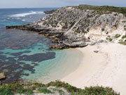 Geordie Bay coastline, Rottnest island. Photo by Richard Madden