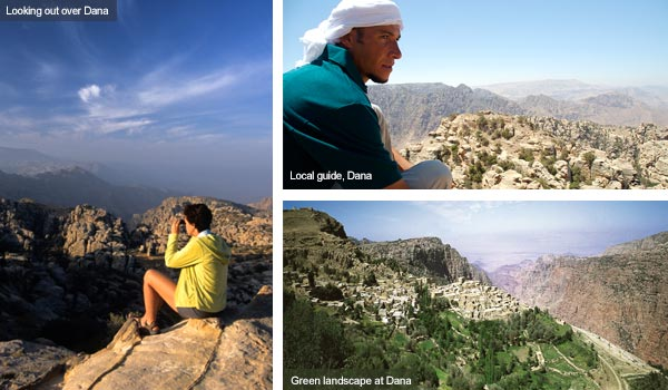 Landscapes at Dana Reserve, Jordan. Photos by Visit Jordan and Huw J Williams