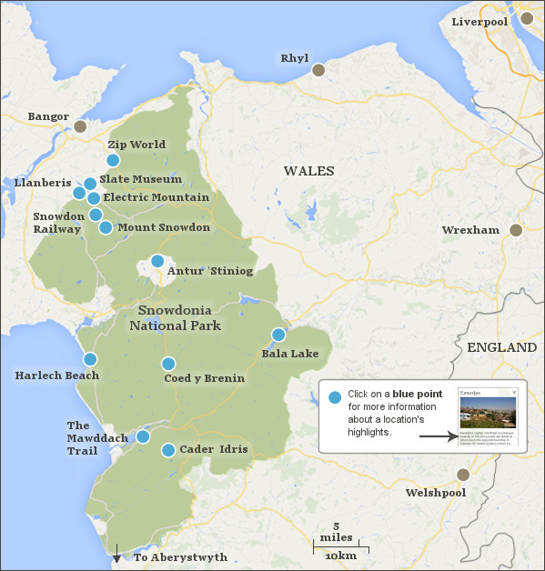 Holidays in Snowdonia National Park Wales, a guide to find a ...