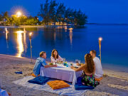 Moonlight dining, Cayman Islands. Photo by Cayman Islands Tourist Board