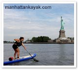 Kayaking in Manahttan, New York State. Photo from manhattankayak.com