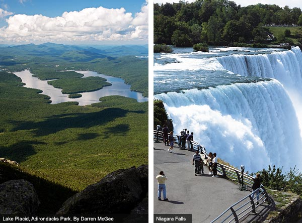Lake Placid and Niagara Falls, New York State. Photos by Darren McGee