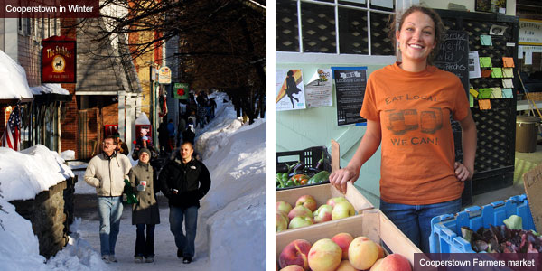 Cooperstown in winter and farmers market, New York State. Photos by Catherine Mack