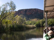 Boat trip on Ord River in Western Australia. Photo by Nick Haslam