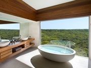 Osprey bathroom, Southern Ocean Lodge, South Australia. Photo by South Australia Tourist Board