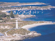 View of Rottnest Island in Western Australia. Photo by Tourism Western Australia