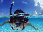 Snorkeller, Cayman Islands. Photo by Cayman Islands Tourist Board