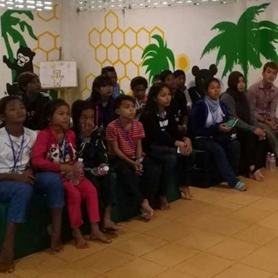 Children learning about the centre