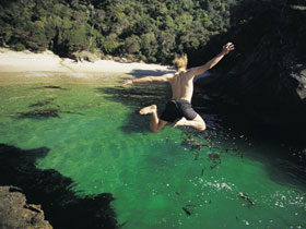 Cliff jump, South coast