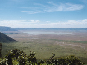 Ngorongoro Crater from the rim.