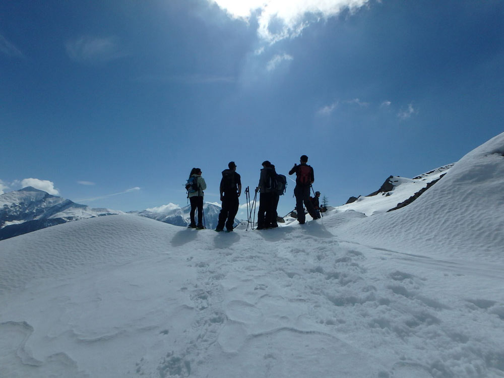 Winter activity holiday in the French Alps