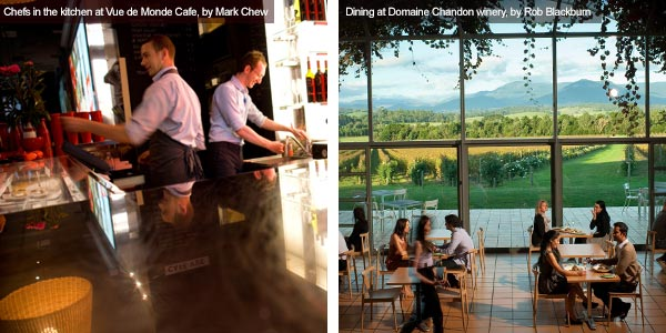 Vue de Monde Café and Domaine Chandon, Victoria. Photos from Victoria Tourist Board